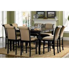 Low Dining Room Tables Amazon Com 9pc Counter Height Dining Table U0026 Stools Set