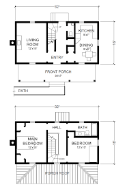 farmhouse floor plan two story 16 x 32 virginia farmhouse house plans project small