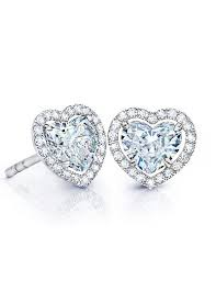 heart shaped diamond earrings heart shaped diamond stud earrings martin katz