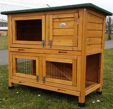 3 Storey Rabbit Hutch Double Rabbit Hutch Pet Supplies Ebay