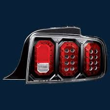 mustang led tail lights 05 09 ford mustang bermuda black custom led tail lights ipcw part