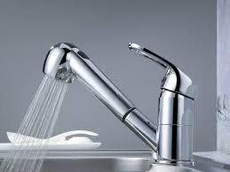 Polished Nickel Kitchen Faucet Kitchen Kitchen Sink Faucet With Sprayer 18 329240 L Bridge