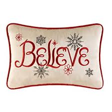 Domain Decorative Christmas Pillows by Amazon Com 8x12 Embroidery Christmas Pillow Believe By C U0026f Home