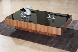glass wood coffee table black glass coffee table design