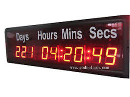 1 8 led digital wall clock countdown timer count up day