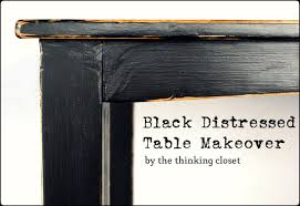 black distressed table makeover u2014 the thinking closet