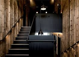 black and wood unique and trendy guest house pumphouse point interiorzine