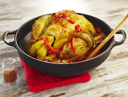 cuisiner poulet entier poulet au paprika à la basquaise maggi