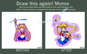 Sailor Moon Meme - draw this again sailor moon by wintercel on deviantart