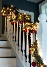 Christmas Garland Decorating Ideas by Christmas Home Tour