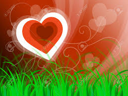 hearts background meaning beautiful landscape or loving nature