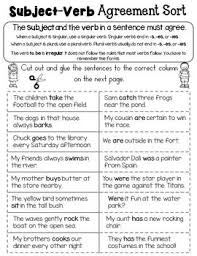 7 best subject verb agreement images on pinterest english