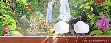 jungle safari animal murals jungle animal mural wallpaper