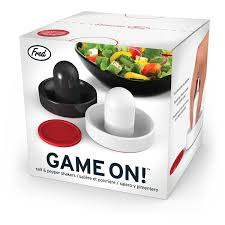Novelty Salt And Pepper Shakers Amazon Com Fred Game On Air Hockey Salt And Pepper Shakers