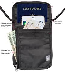 amazon com travel passport holder security neck stash pouch