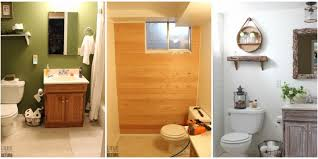 Rustic Bathroom This Incredible Rustic Bathroom Makeover Cost Less Than 100