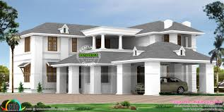 wide colonial home wide colonial home kerala home design