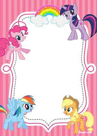 free free printable my little pony birthday invitation template