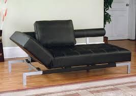 lounger futon iris futon sofa bed lounger in brown or black faux leather