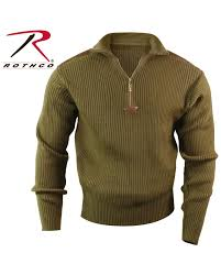 sweater brands rothco s 1 4 zip commando sweater 3x fort brands