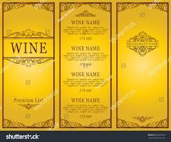 vintage design restaurant menu wine list stock vector 486253318