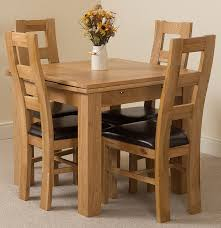dining tables farmhouse kitchen table sets solid oak table and 4