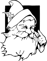 santas coloring pages