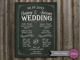 wedding program sign chalkboard wedding program sign printable wedding program