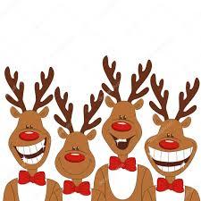 imagenes animadas de renos de navidad ilustración de navidad de renos de dibujos animados vector de
