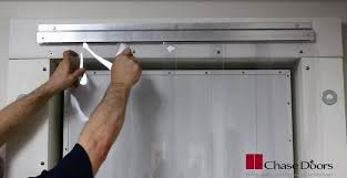 Sliding Pvc Strip Curtains Chase Fast Mount Strip Door Installation Youtube