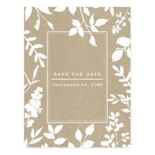 Rustic Save The Date Cards Savethedate Postcards White Botanical Leaves Simple Rustic