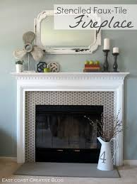 How To Build Fireplace Surround by How To Stencil A New Fireplace Surround Tiled Fireplace