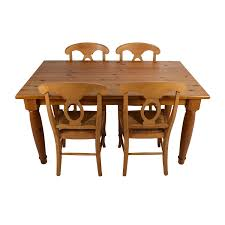 Pottery Barn Dining Room Set by 73 Off Pottery Barn Pottery Barn Dining Room Table With Four