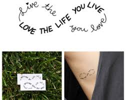 love infinity tattoo etsy