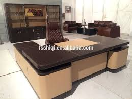 high quality office table high end office desk leather office desk set high end office desk