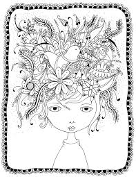 valuable design crazy hair coloring pages 10 crazy hair