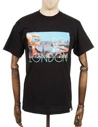 diamond supply co diamond supply co london life photo t shirt black clothing