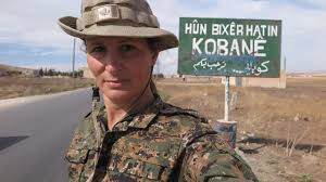 we spoke to the former model who joined the kurdish fight against