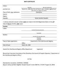 birth certificate translation template recommendation letter for