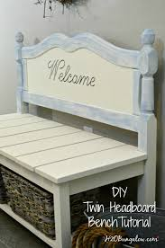 How To Make A Wood Toy Box Bench by Headboard Bench Ideas 25 Projects My Repurposed Life