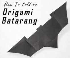 How To Fold A Flag Triangle How To Fold An Origami Batarang From The Dark Knight 8 Steps