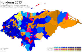 1984 Presidential Election Map by Honduras 2013 World Elections