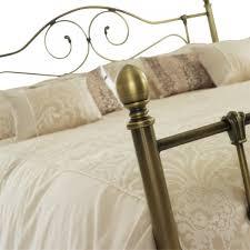 Brass Double Bed Frame Serene Florence 5ft Kingsize Antique Brass Metal Bed Frame By