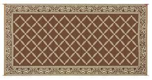 Rv Awning Mats 8 X 20 amazon com reversible mats 119187 brown beige 9 u0027x18 u0027 rv patio mat