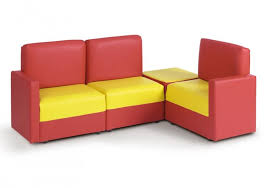 Modular Sofas Uk Children U0027s Corner Modular Wipe Clean Sofa In Red U0026 Yellow