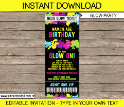 invitation ticket birthday invitation template
