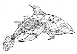 robot shark coloring kids drawing coloring pages marisa