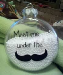 set of 6 mustache ornaments by happysolitude things that i