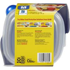 amazon com glad food storage containers entrée container 25