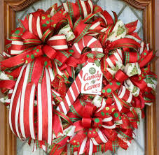 candy cane wreath christmas wreath for front porch christmas